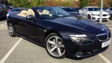 BMW 6 Series 635d Sport Auto Diesel 2dr Convertible - Carbon Black With Cream Beige Exclusive Leather