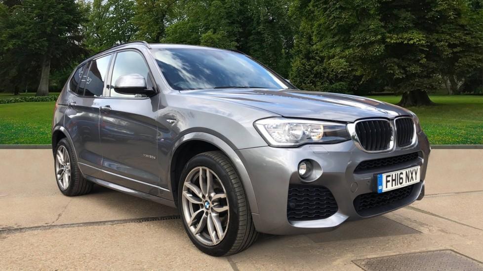 BMW X3 xDrive20d M Sport Auto, M Sport Leather Seats, Parking Sensors, CD Player, Roof Rails,  2.0 Diesel Automatic 5 door 4x4