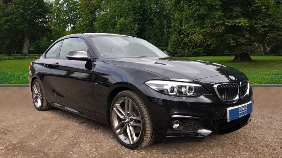BMW 2 Series 220d M Sport 2dr Step Auto with Sat Nav, Leather, Frt & Rr Park Sensors, Heated Seats & Bluetooth 2.0 Diesel Automatic Coupe (2018)